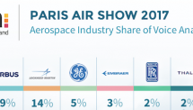Which Aerospace companies dominated the Paris Air Show 2017?