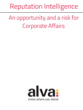 Corporate Affairs report cover on Reputation Intelligence