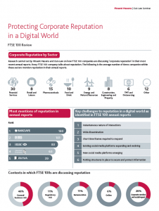 Protecting Corporate Reputation in a Digital World Infographic