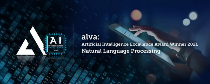 alva named winner in 2021 Artificial Intelligence Excellence Awards